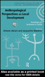 Ebook in inglese Anthropological Perspectives on Local Development