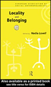 Ebook in inglese Locality and Belonging