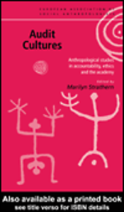 Ebook in inglese Audit Cultures Strathern, Marilyn