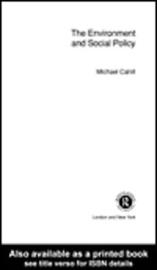 Ebook in inglese The Environment and Social Policy Cahill, Michael