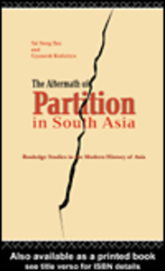 Ebook in inglese The Aftermath of Partition in South Asia Kudaisya, Gyanesh , Yong, Tan Tai