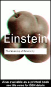Ebook in inglese The Meaning of Relativity Einstein, Albert
