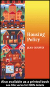 Foto Cover di Housing Policy, Ebook inglese di Pete Alcock,Jean Conway, edito da