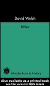 Ebook in inglese Hitler Welch, David