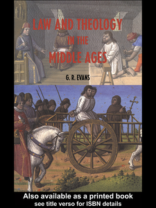 Ebook in inglese Law and Theology in the Middle Ages Evans, G.R.