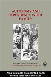 Autonomy and Dependence in the Family