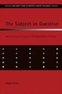 Foto Cover di Subject in Question, Ebook inglese di Stephen Priest, edito da Taylor and Francis