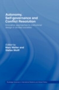 Ebook in inglese Autonomy, Self Governance and Conflict Resolution