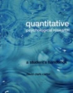 Ebook in inglese Quantitative Psychological Research Clark-Carter, David