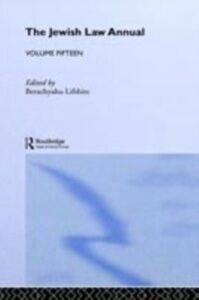 Ebook in inglese Jewish Law Annual Volume 15 -, -