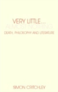 Ebook in inglese Very Little ... Almost Nothing Critchley, Simon
