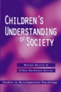 Ebook in inglese Children's Understanding of Society -, -