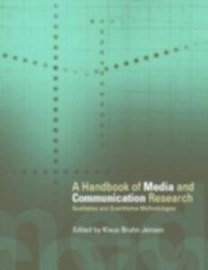 Foto Cover di Handbook of Media and Communication Research, Ebook inglese di  edito da Taylor and Francis