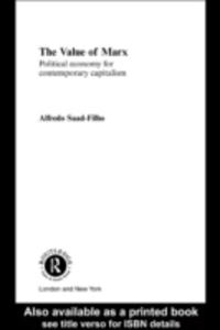 Ebook in inglese Value of Marx Saad-Filho, Alfredo