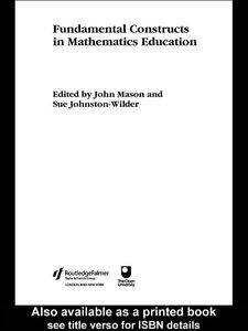 Ebook in inglese Fundamental Constructs in Mathematics Education