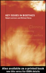 Ebook in inglese Key Issues in Bioethics