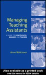 Ebook in inglese Managing Teaching Assistants Watkinson, Anne