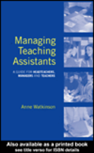 Ebook in inglese Managing Teaching Assistants Watkinson, Anne