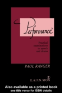 Ebook in inglese Performance -, -