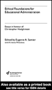 Ebook in inglese Ethical Foundations for Educational Administration