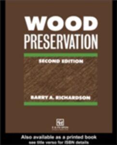 Foto Cover di Wood Preservation, Ebook inglese di B A Richardson, edito da Taylor and Francis