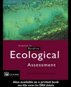 Ebook in inglese Guidelines for Baseline Ecological Assessment -, -