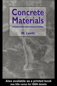 Ebook in inglese Concrete Materials Levitt, Dr Maurice