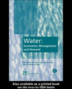 Ebook in inglese Water: Economics, Management and Demand