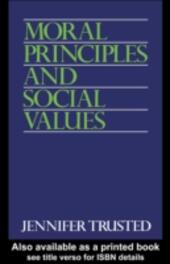 Moral Principles and Social Values