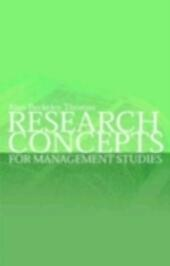 Research Concepts for Management Studies