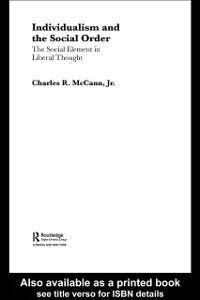 Foto Cover di Individualism and the Social Order, Ebook inglese di Charles McCann, edito da Taylor and Francis