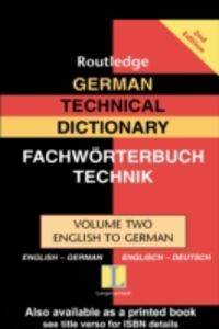 Ebook in inglese German Technical Dictionary (Volume 2)