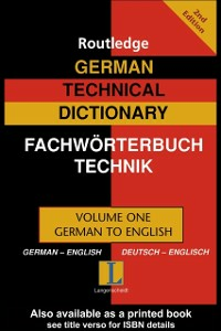 Ebook in inglese German Technical Dictionary (Volume 1) -, -