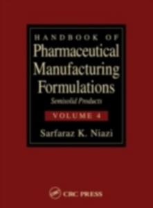Ebook in inglese Handbook of Pharmaceutical Manufacturing Formulations Niazi, Sarfaraz K.