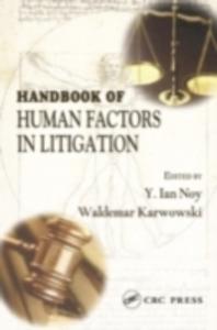 Ebook in inglese Handbook of Human Factors in Litigation -, -