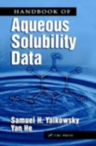 Foto Cover di Handbook of Aqueous Solubility Data, Ebook inglese di Samuel H. Yalkowsky, edito da CRC Press