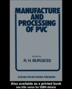 Ebook in inglese Manufacture and Processing of PVC