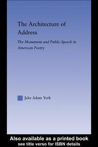 Ebook in inglese Architecture of Address York, Jake Adam