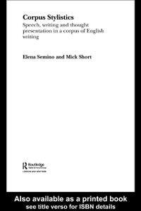 Foto Cover di Corpus Stylistics, Ebook inglese di Elena Semino,Mick Short, edito da Taylor and Francis