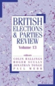 Foto Cover di British Elections & Parties Review, Ebook inglese di  edito da Taylor and Francis