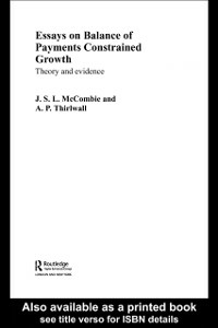 Ebook in inglese Essays on Balance of Payments Constrained Growth -, -
