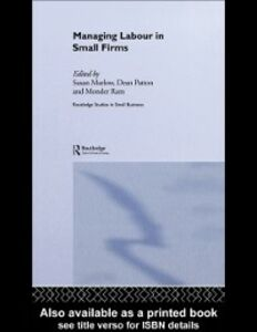 Ebook in inglese Managing Labour in Small Firms