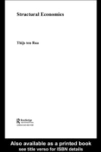 Ebook in inglese Structural Economics Raa, Thijs ten