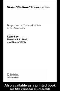 Ebook in inglese State/Nation/Transnation -, -