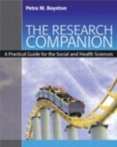Foto Cover di Research Companion, Ebook inglese di Petra M. Boynton, edito da Taylor and Francis