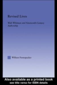 Foto Cover di Revised Lives, Ebook inglese di William Pannapacker, edito da Taylor and Francis