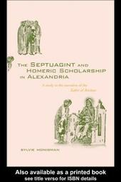 Septuagint and Homeric Scholarship in Alexandria