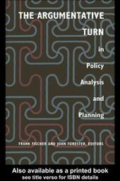 Argumentative Turn In Policy Analysis And Planning