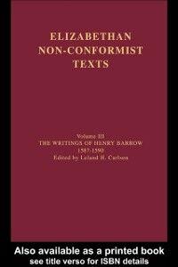 Ebook in inglese Writings of Henry Barrow, 1587-1590