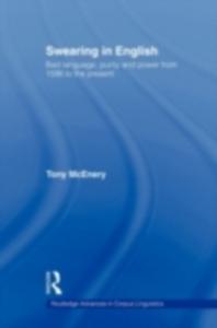 Ebook in inglese Swearing in English McEnery, Tony